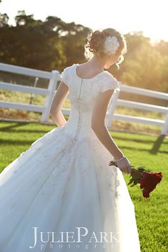 The back should always looks stunning, wonder what the front looks like. Wedding Dresses Lds, Event Dresses, Wedding Staircase, Perfect Wedding, Dream Wedding, Green Weddings, Wedding Inspiration, Wedding Ideas, Bride Gowns