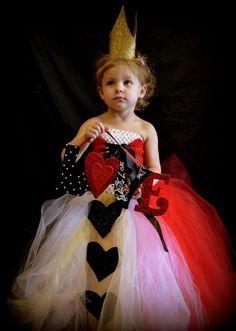 Robe reine de coeur ma bimbo mes r alisations pinterest - Deguisement alice au pays des merveilles fait maison ...