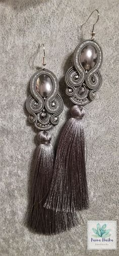 Soutache earings with tassels!:) find me on fb.com/ PannaNaika