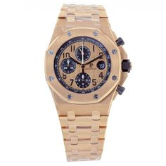 Audemars Piguet Royal Oak Offshore Chronograph 42 Rose Gold Watch Pink Dial 26470OR.OO.1000OR.01