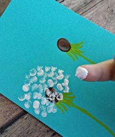loewenzaehne-with-children Paint - DIY - Basteln mit Kindern - Kids Crafts, Summer Crafts, Toddler Crafts, Projects For Kids, Diy For Kids, Arts And Crafts, Kids Fun, Footprint Art, Handprint Art