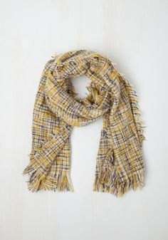 Cozy Does It Scarf in Yellow