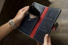 Leather long wallet for men XVIII