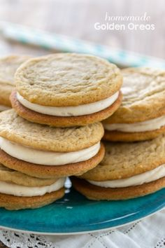 Homemade Soft Golden Oreos totally from scratch!