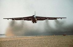 B-52G Take-off at Jeddah, Saudi Arabia during Desert Storm