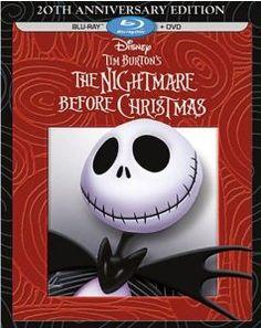 Tim Burton's The Nightmare Before Christmas – Anniversary Edition (Blu-ray / DVD Combo Pack) Tim Burton, Disney Movie Club, Disney Movies, Buy Movies, Disney Villains, Disney Pixar, Jack Disney, Chris Sarandon, Disney Blu Ray