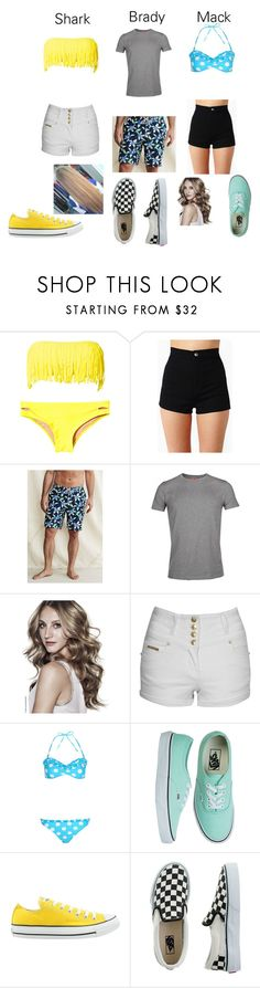 """""""Wet side story"""" by mikaylalynch ❤ liked on Polyvore featuring Hot Anatomy, Lands' End, BOSS Orange, Jane Norman, Boohoo, Vans, Converse and J.Crew"""