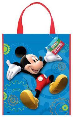 Torebka na drobne upominki dla gości przyjęcia urodzinowego dziecka. Nadruk z motywem Myszki Miki.