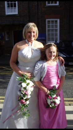 Stunning Hazel & daughter, both dresses by Dzage