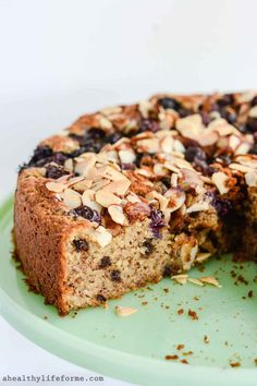Gluten Free Blueberry Chocolate Cake is a moist, delicious cake that is loaded with fresh blueberries, almonds and chocolate flavors. This cake is also gluten free, dairy free, paleo friendly and contains no granulated sugar.
