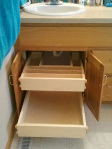 Roll Out Under Sink Drawer