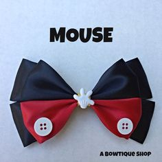 mouse hair bow by abowtiqueshop on Etsy, $6.50  mickey mouse