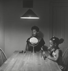 Carrie Mae Weems, Untitled (Woman and daughter with makeup) (from Kitchen Table Series) (1990) | Artsy