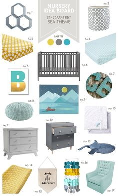 Awesome inspiration for an ocean-themed nursery!