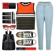 """He Glanced From Afar..."" by sweet-jolly-looks ❤ liked on Polyvore featuring New Look, Converse, NARS Cosmetics, Thierry Lasry, Monki and Chanel"