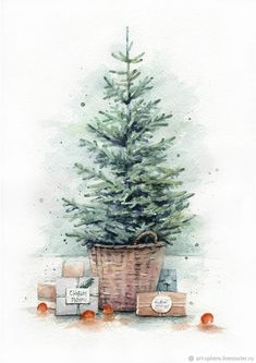 Christmas Cards To Make, Christmas Mood, Xmas Cards, Christmas Crafts, Christmas Decorations, Winter Wonderland Wallpaper, Winter Wallpaper, Christmas Wallpaper, Watercolor Christmas Cards