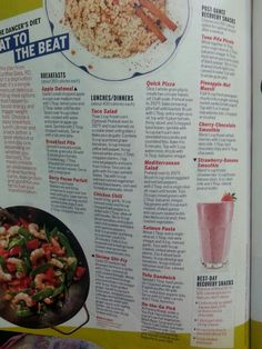 Dancers diet. Drop 10 in a month from health mag