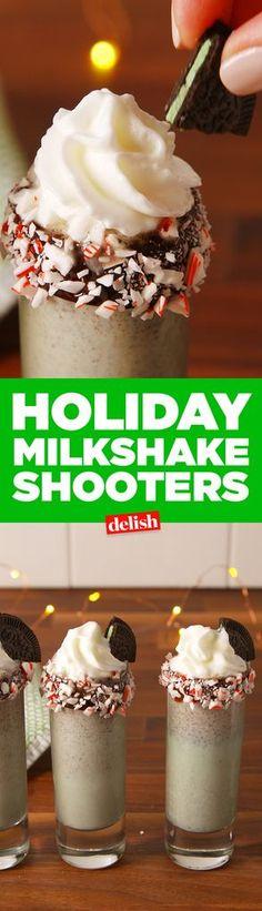 Holiday Milkshake Shooters  - Delish.com