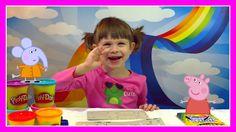 Свинка Пеппа   принцесса  Делаем  Принцессу Пеппу с Play Doh Princess Pe...