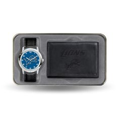 Detroit Lions NFL Men's Watch & Wallet Gift Set