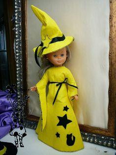 Como hacer un disfraz de bruja para la muñeca Nancy de Famosa , con patrones