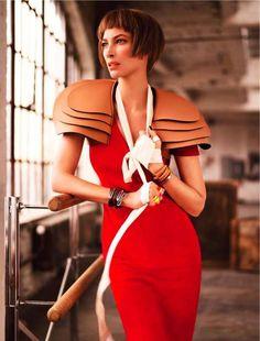 Harper's Bazaar Singapore 'Model Citizen' Stars Christy Turlingt #football #fashion trendhunter.com