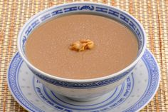 Sweet #walnut soup (#核桃糊). Ground walnut #powder that cooked with sugar and water, sometimes milk. Similar to Sweet almond soup, instant walnut powder is sold in Asian supermarket as well.