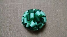 Green Hairbow Loopy Hairbow St Patrick's by GloriaMillerCreation