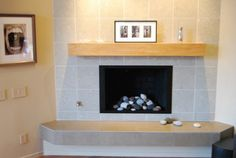 Simple Design Idea For Corner Fireplace Cozy Corner . Corner Fireplace Mantels, Linear Fireplace, Wood Mantels, Fireplace Surrounds, Fireplace Design, Tile Fireplace, Floating Mantel, Inside A House, Garage Remodel