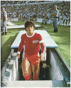 Diego en Argentinos Juniors