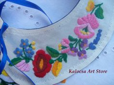 Collar applique Kalocsai motif handembroidered by KalocsaArtStore, $39.00