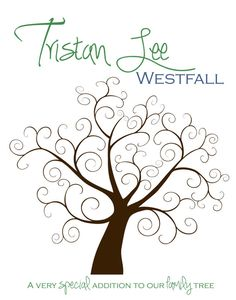 I bet madison could paint or draw a tree like this and we could do teal and purple thumbprints on the tree.  You like?