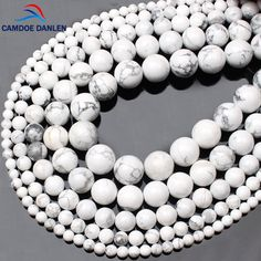 Beads Natural Stone White Turquoises Howlite Round Beads For Beads Jewelry Making 4 6 8 10 12mm Gem Loose Beads Diy Bracelet Wholesale Convenient To Cook Jewelry & Accessories