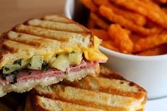 PANINI HAWAII WITH BAKED SWEET POTATO FRIES