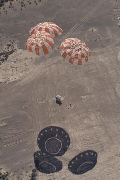 Touchdown! NASA's Orion's parachutes hit no snags in their most difficult test yet/