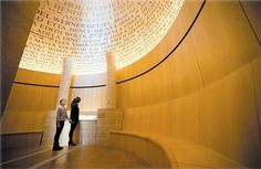 The Room of Remembrance pays special homage to the 6 million Jews and millions of others murdered during the Holocaust. Representative names of victims line the walls in a moving tribute to those who were lost.