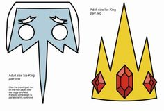 Sept 1st: Ice King paper mask. Adventure Time inspired 2-part mask, and not quite printable quality here. By QueenHare for the Design Every Day Project
