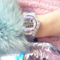 "ppolishprincess: ""my baby-g watch is so cute! Pastel Fashion, Quirky Fashion, 90s Fashion, Creepy, Pastel Designs, G Watch, Pastel Grunge, Vintage Hippie, Bratz Doll"