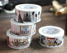Items similar to mt ex 2015 - Japanese Washi Masking Tape / Miroslav Sasek Illustration Series -People, Animal, Plants,Vehicle at your choice on Etsy Mt Washi Tape, Washi Tape Storage, Washi Tape Crafts, Masking Tape, Washi Tapes, Okayama, Tapas, Deux Faces, Modes4u