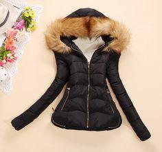 冬季女装修身带帽小棉袄 -易买中国,一家专做免费代购的网站.