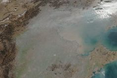 Smog and Haze in Northern China : Image of the Day : NASA Earth Observatory 12/7/2016