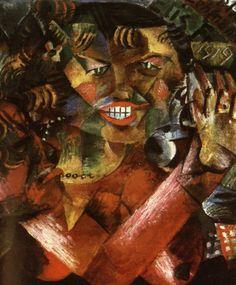 Otto Dix, Meine Freundin Elis (Mit Selbstbildnis) [My Freidn Elis (With Self Portrait)], 1919