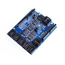 New Sensor Shield V4.0 digital analog module for Arduino UNO Mega 2560 Duemilanove AVR, High quality(China (Mainland))