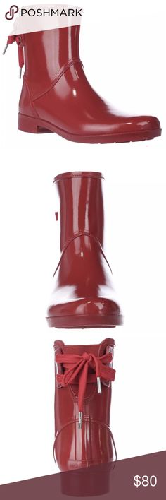 MICHAEL KORS red lined rain boots 8 NEW MICHAEL KORS red rain boots Laces in back with stretch panel. Lined with red fleece/fur.  ✅Please use BUY or OFFER button ✅Please let me know if any non-$ questions ✅pictures are stock, I will post actual later today/tomorrow Michael Kors Shoes Ankle Boots & Booties