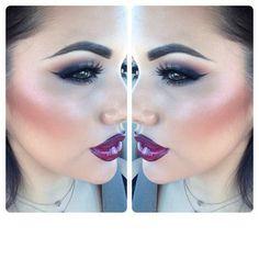 Go out -look. Vampire style. Vino liner, Love forever pro long wear lipstick, rebel gloss