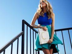 Diamond Flounce Dress by Donna Mizani from Kristin Cavallari on OpenSky