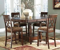 Natural Piece Counter Height Dining Set - Interior Decorating Ideas