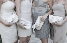 Ivory wedding clutch, Nude and blush wedding, Bridal clutches, Clutch set, Bridesmaids gifts, Wedding gift, Foldover clutch, Envelope clutch by eclu on Etsy https://www.etsy.com/listing/122017577/ivory-wedding-clutch-nude-and-blush