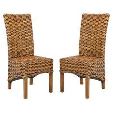Dining Chair Wood/Brown   Safavieh