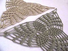 Sage Green and Taupe Crochet Triangle Appliques by MyMothersMother